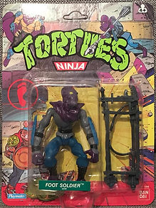 TMNT Tortues Ninja foot soldier 10 back playmates 1990 NEUF MOC