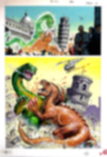 Norem Earl - 2013 Dinosaurs Attack Comics original art