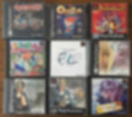 PS1 jeux collection ogre battle parasite eve persona