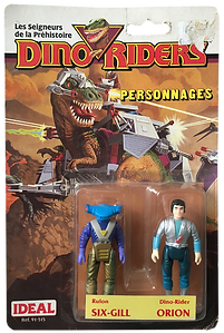 Dino Riders serie 1 ideal six-gill orion pack blister