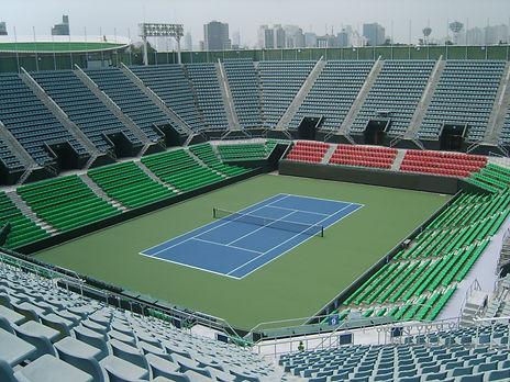 올림픽공원 테니스장 시설 공사.JPG