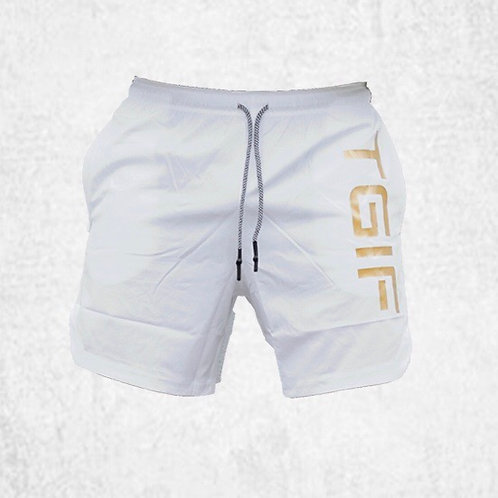 STEEL WHITE X GLD MENS LIFESTYLE SHORTS