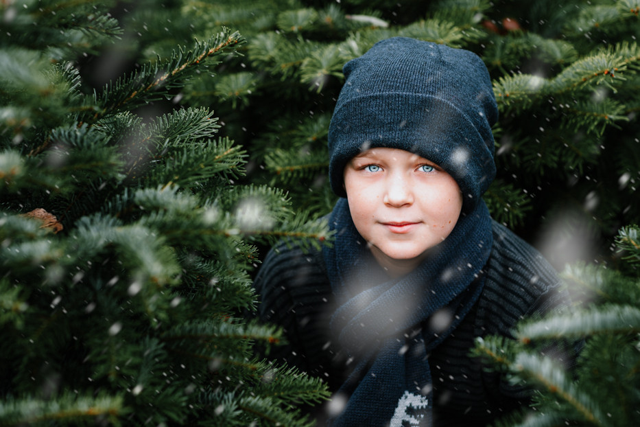 Kerstsessies tussen de kerstbomen 4O9A48