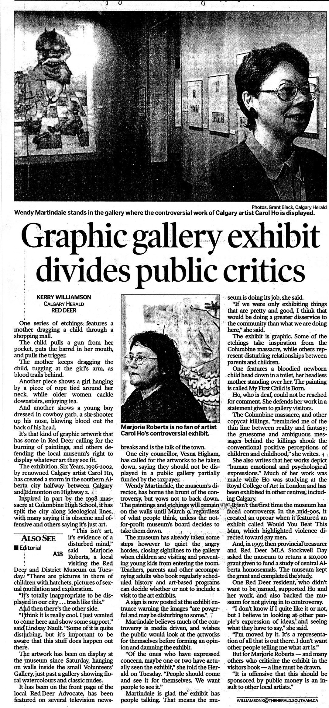 CALGARY HERALD, JAN 15 2003