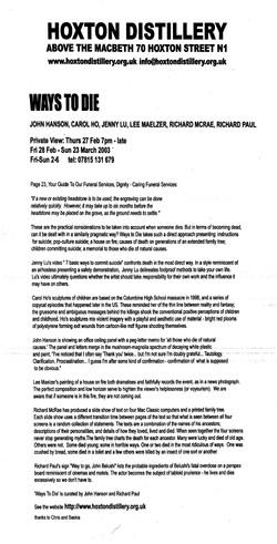 WAYS TO DIE 2002, HOXTON DISTILLERY