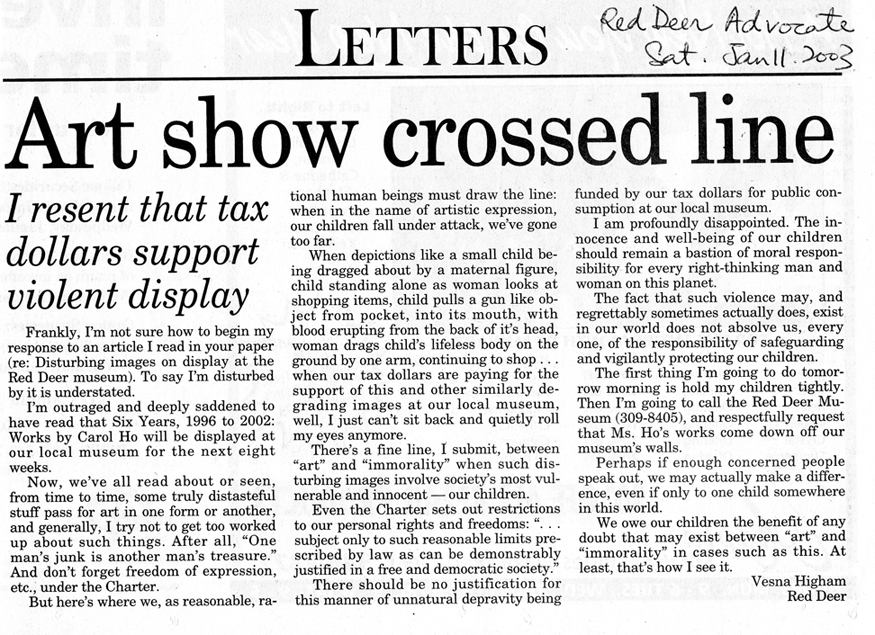 RED DEER ADVOCATE, JANUARY 11 2003