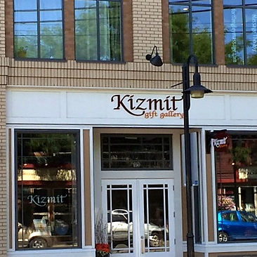 The front of the Kizmit Gift Gallery shop.
