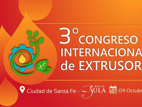 Acompañanos este 09 Ocutubre de 2019 - A la 3º Congreso Internacional de Extrusores