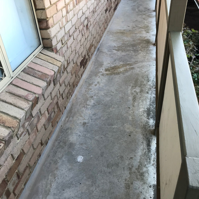 Worn surfaces can lead to the onset of concrete cancer (residential strata complex, West Perth)