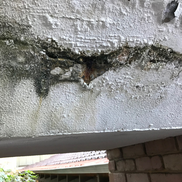 Concrete cancer at a residential strata complex in West Perth