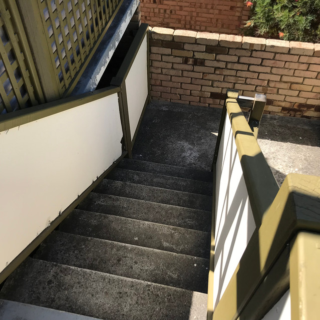 Worn, exposed surfaces can lead to the onset of concrete cancer (residential strata complex, West Perth)