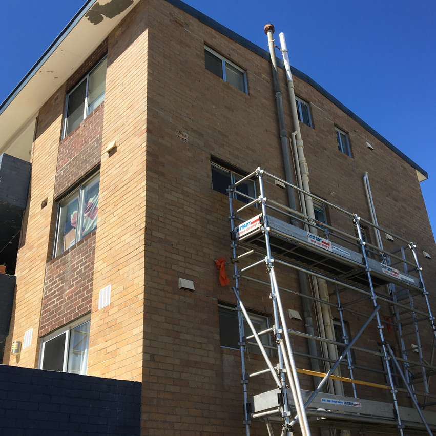 Conspar structural repair work continues with lintel restoration
