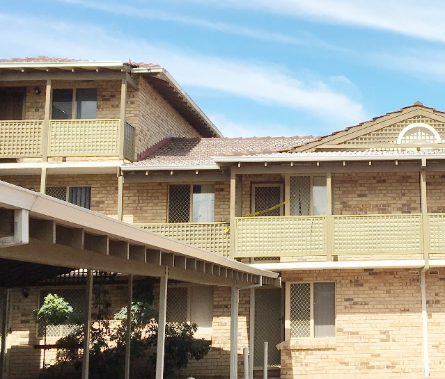 Conspar structural repair works at this West Perth residential strata complex have included concrete cancer treatment, waterproofing and protective coating application