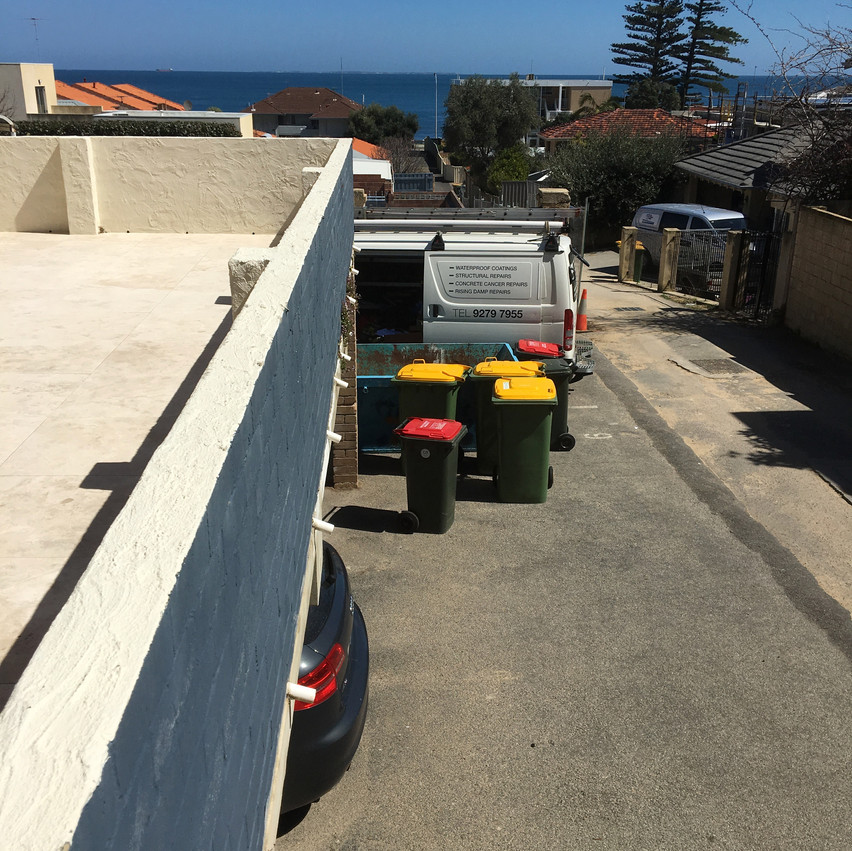 Conspar has been carrying out repairs to common access areas, balconies and the undercover carpark of this block of seaside units in Cottesloe