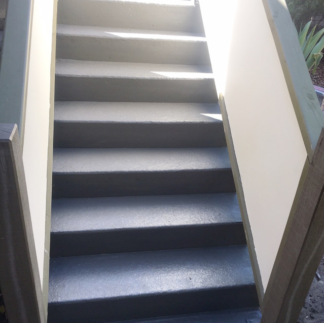 Conspar carried out restoration of common access stairways at this residential strata complex in West Perth. The works involved treatment of concrete cancer and waterproofing, which included application of Conspar's 5-layer protective floor coating system