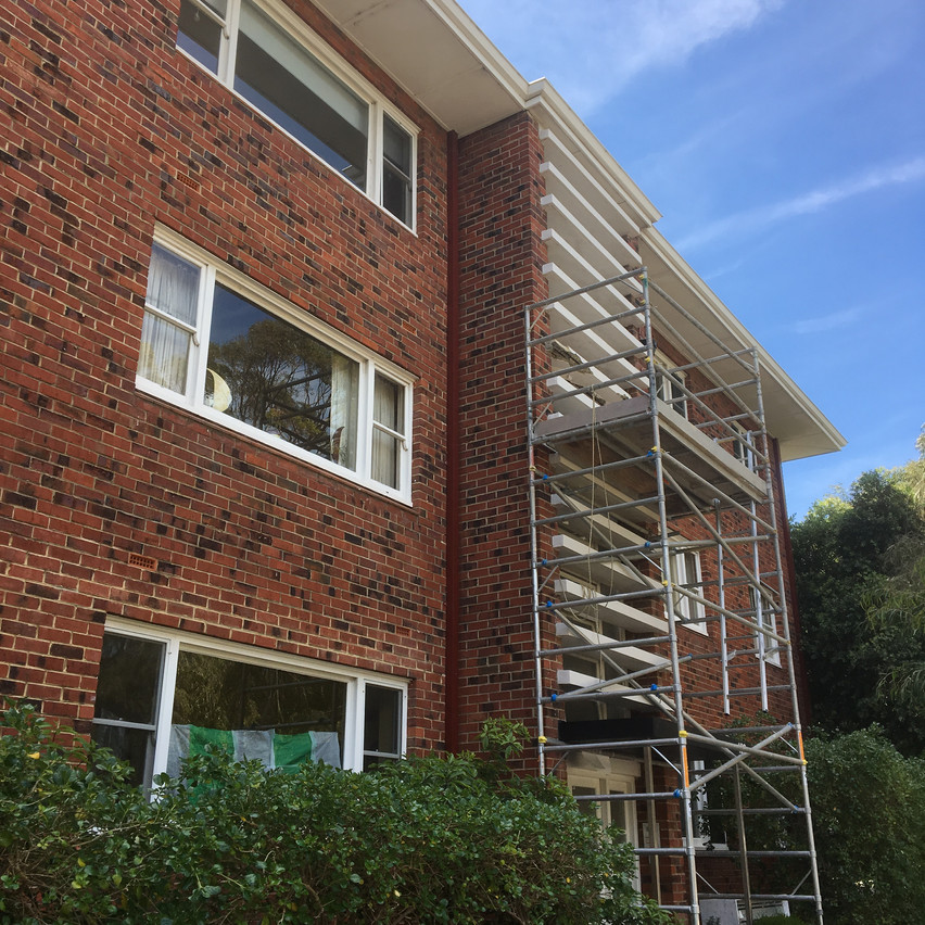 Concrete cancer treatment by Conspar at this residential strata unit block in Peppermint Grove.