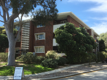 Peppermint Grove apartment block structural building maintenance works