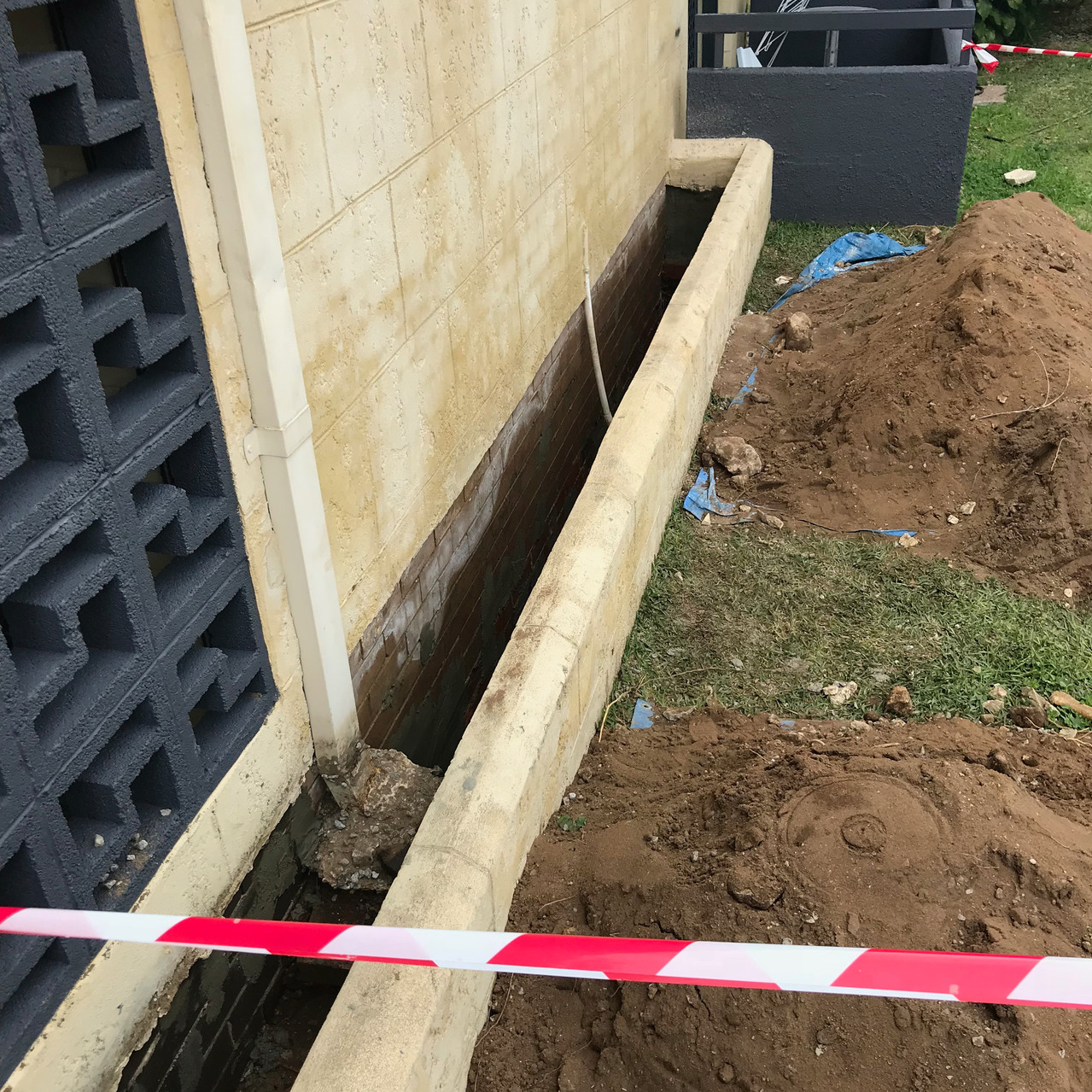 Waterproofing planter boxes at this residential strata complex in Hamilton Hill.