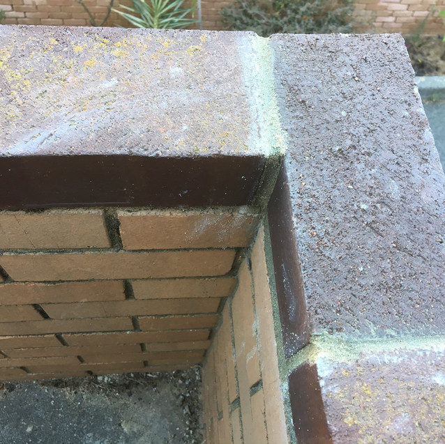 Brickwork balustrade restoration