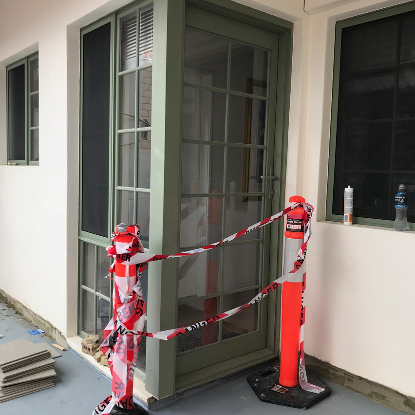Conspar waterproofing and retiling of this outdoor area at an East Perth home overlooking Claisebrook Cove.