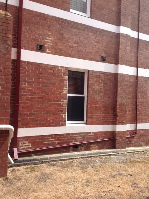 Conspar is to carry out restoration works to this brickwall belonging to a residential strata complex in Northbridge.