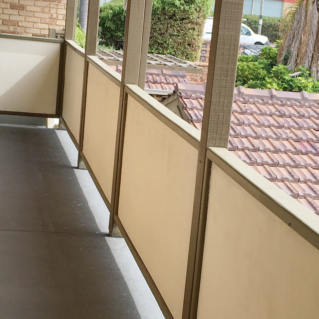 Conspar carried out restoration of common access balconies at this residential strata complex in West Perth. The works included concrete repair and waterproofing, which included application of Conspar's 5-layer protective floor coating system