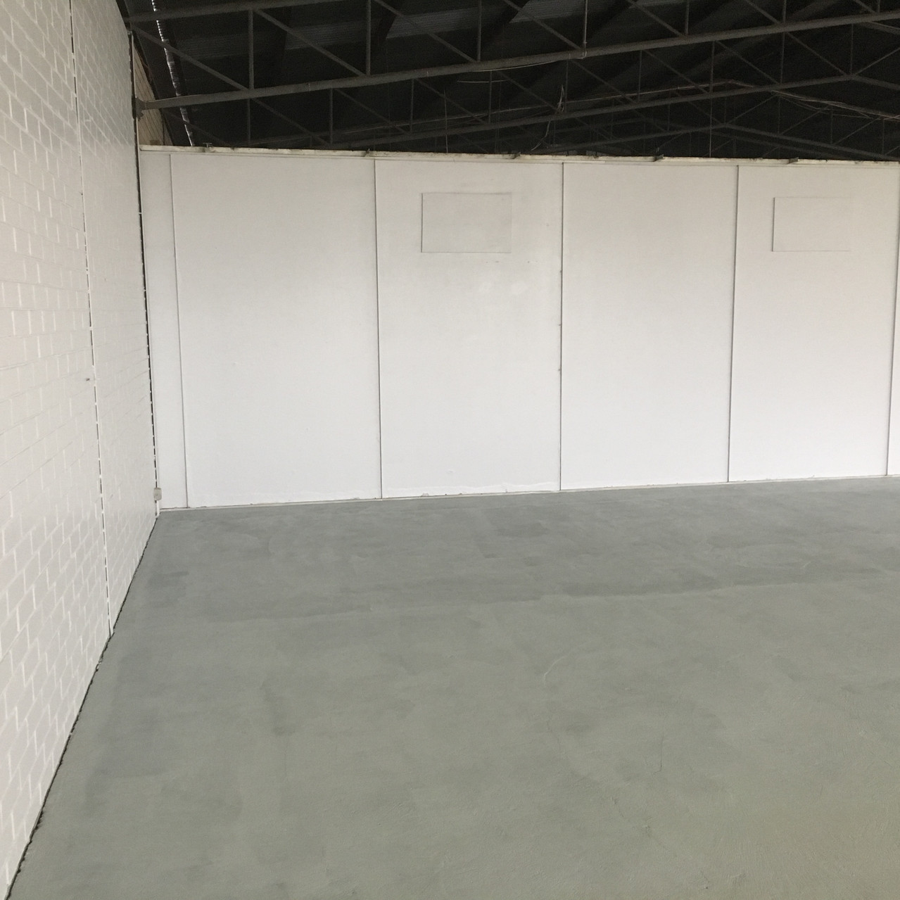 Conspar floor restoration works at this commercial warehouse in Bayswater.