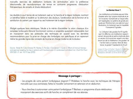 Article 2 - La lombalgie : Une histoire de Hanche?
