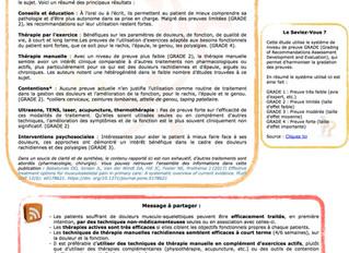 Article 3 - EBP et douleurs musculo-squelettiques : État des lieux