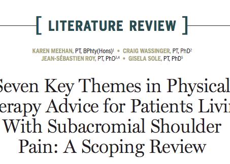Et vous, quels conseils donnez vous à vos patient·es atteint·es de douleurs d'épaules ?