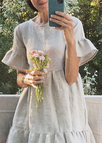 Women's linen dress DAISY