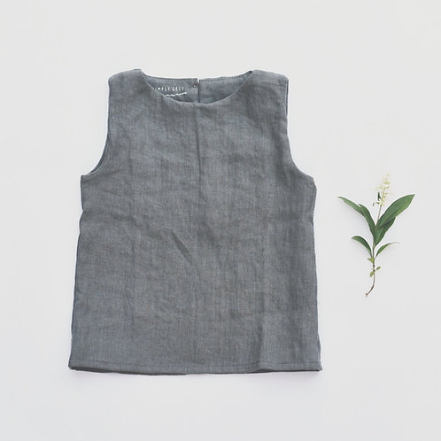 KIDS LINEN TOP SLEEVELESS