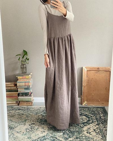 Women's linen dress ELENA LONG