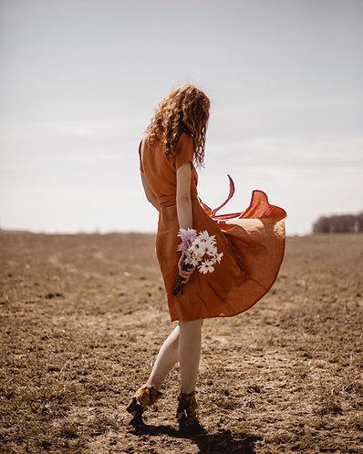 Women's linen wrap dress CLAIRE