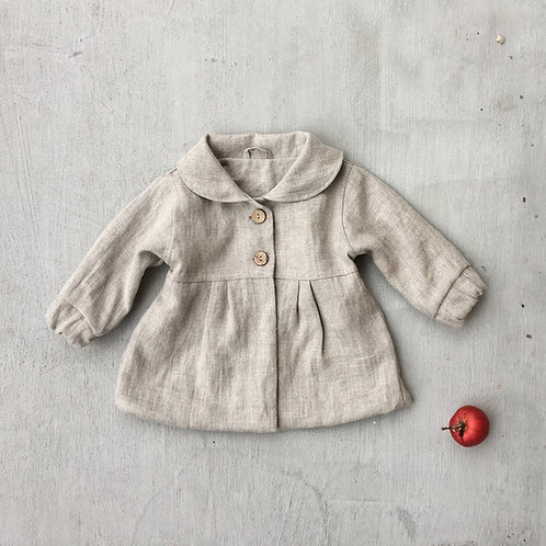 GIRLS LINEN NATURAL JACKET