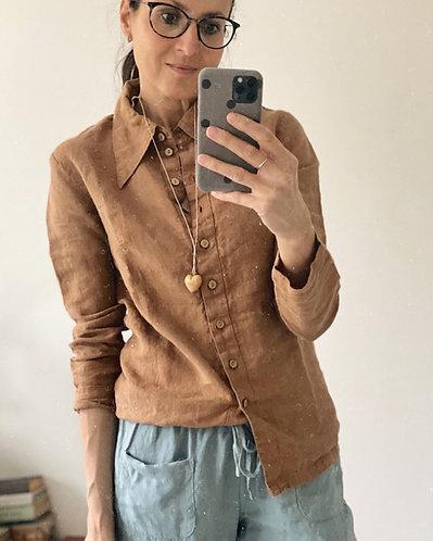 Women's linen collar shirt ADELE