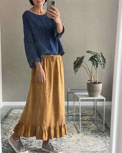 Women's linen skirt BETTY - one size