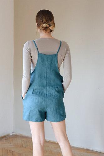 Women's linen shortalls BUDDY
