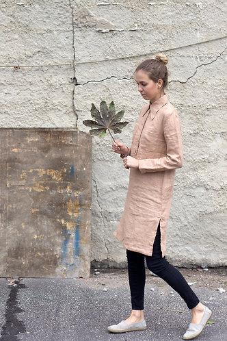 Women's linen shirt tunic/dress SIENNA
