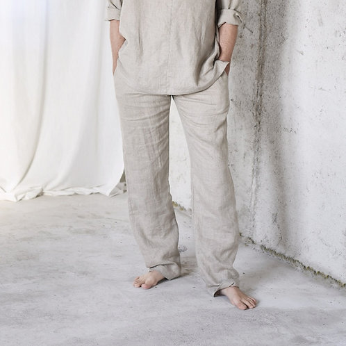 Men's linen pajama pants, linen pants for home