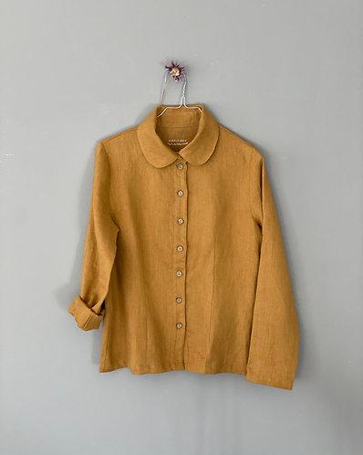 Women's shirt EMILY long sleeve, ochre, S/M