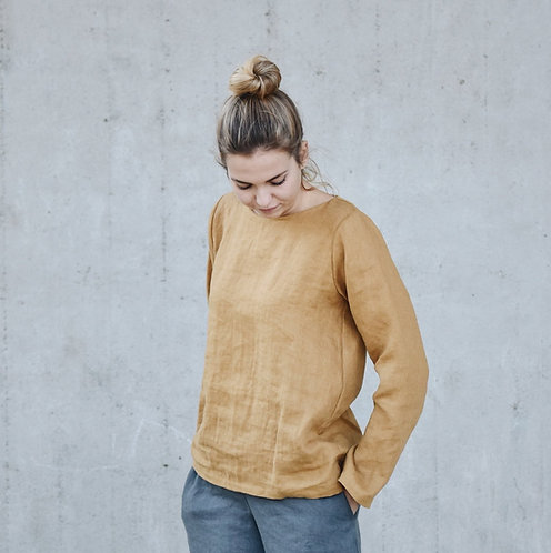 WOMEN'S LINEN TOP LONG SLEEVE