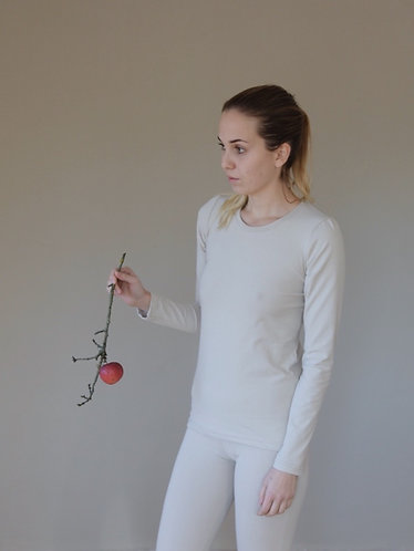Women's long sleeve t-shirt - puff sleeves