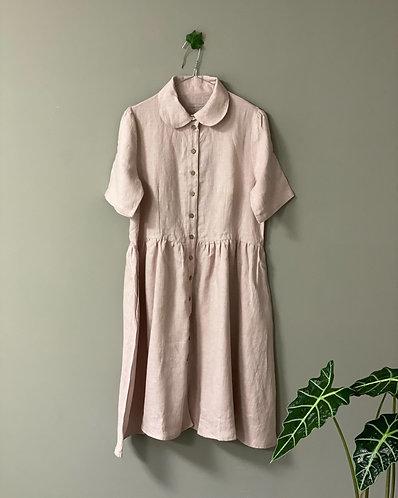 Dress WENDY short sleeve, dusty pink, M/L