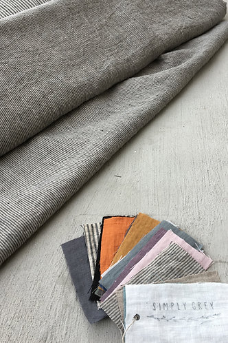 Washed linen fabric by meter - available in 26 colors