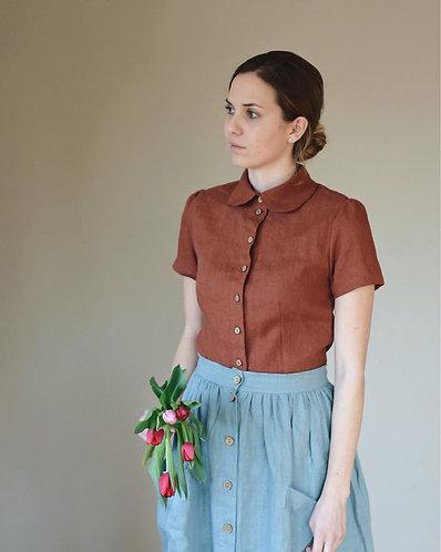 Shirt GRACE, chestnut, S