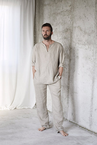 MEN'S LINEN PAJAMAS