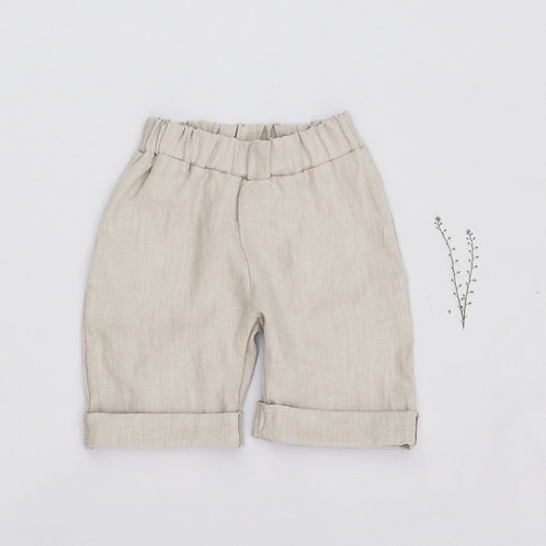 KIDS LINEN SHORTS WITH POCKETS