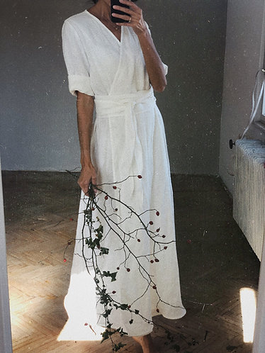 Women's linen wrap dress CHARLOTTE