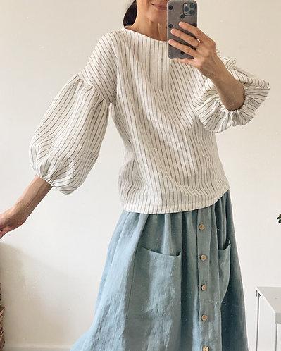 Women's linen top BELLA